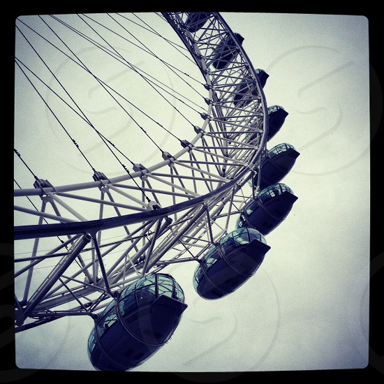 Broken London Eye- stuck in the queue for hours at least it was a good excuse for a photoshoot!  photo