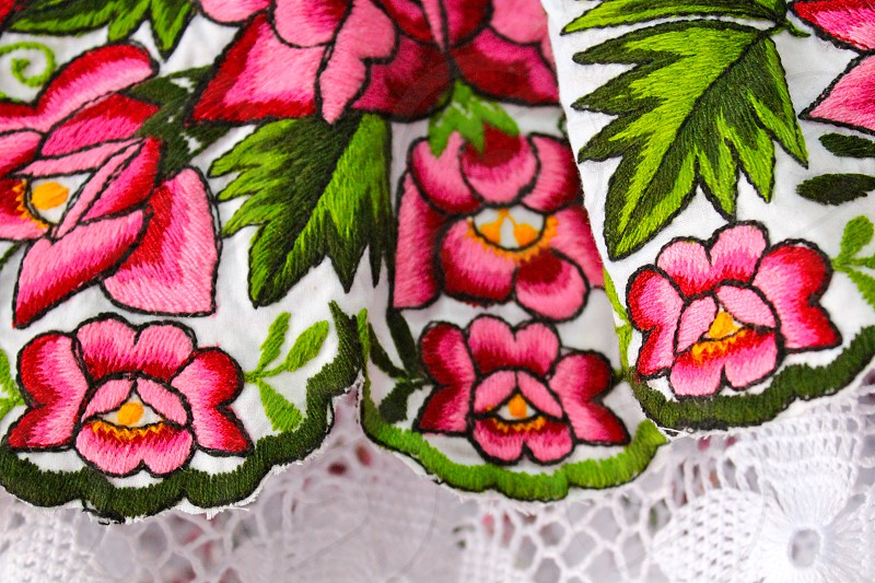 Regional Dress Embroidery Flowers Colors Textiles photo