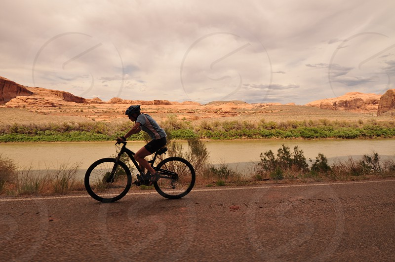 active healthy lifestyle cyclist ride Moab Utah photo