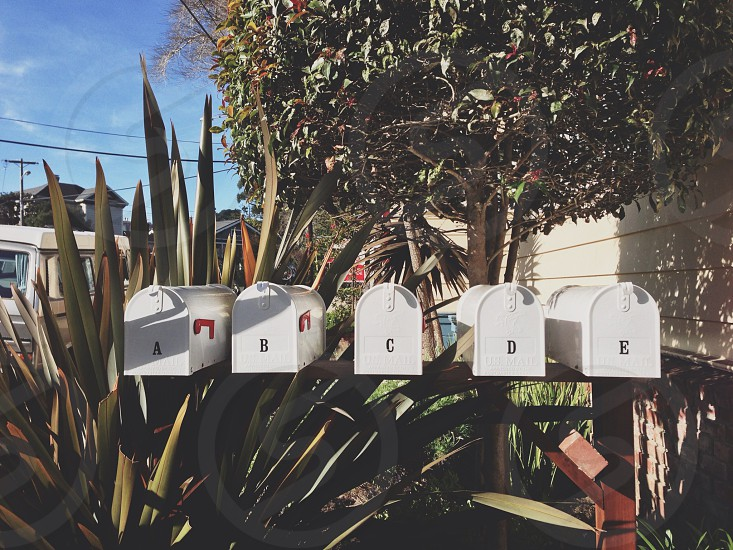 white mailbox  photo