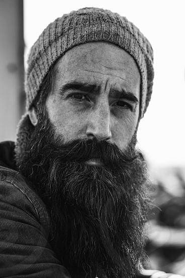 Men fashion beard photo
