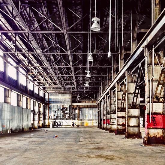 Warehouse interior abandoned building  photo