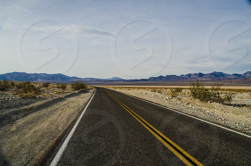 Hwy 178 in Death Valley California photo