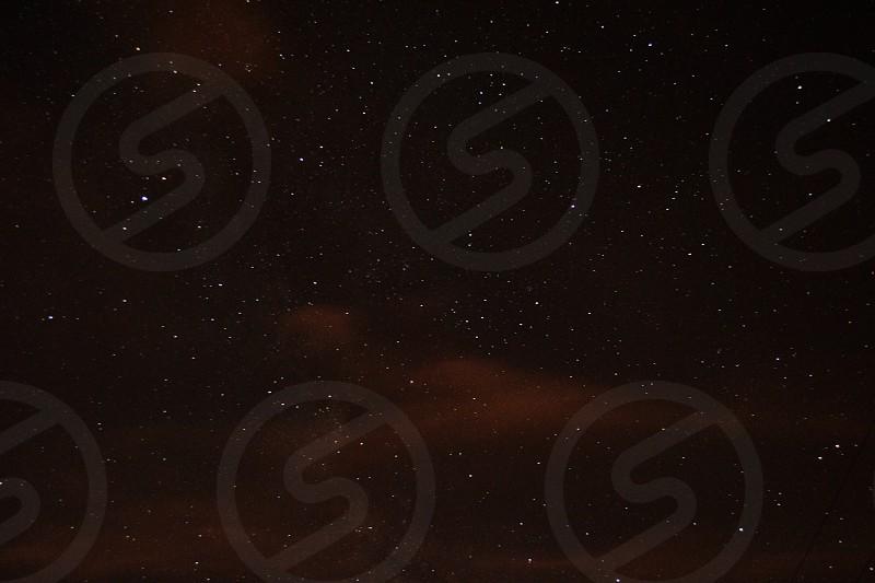 night sky with stars view photo