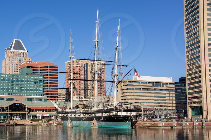 The USS Constellation in the Baltimore Inner Harbor. photo