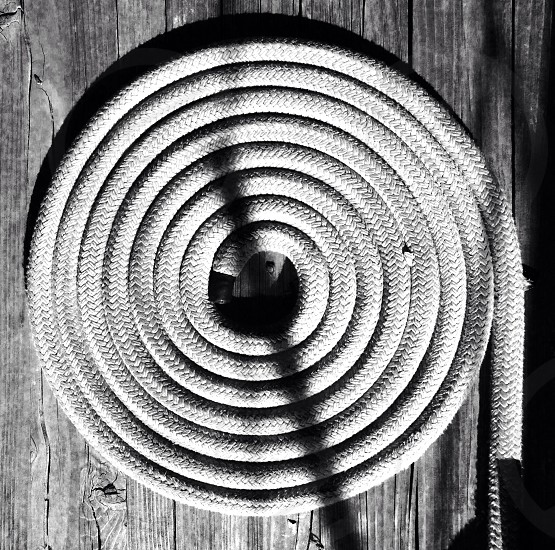 white rolled rope photo