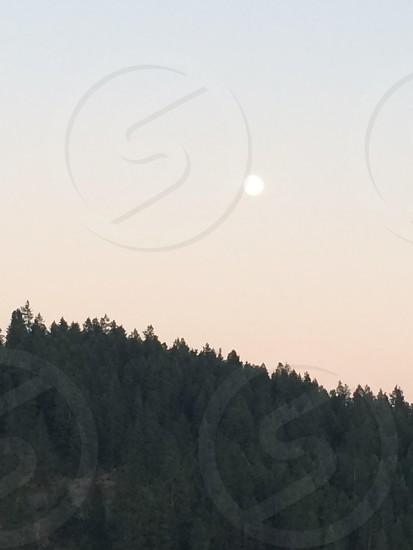 Full moon from Lake Coeur D'alene  photo