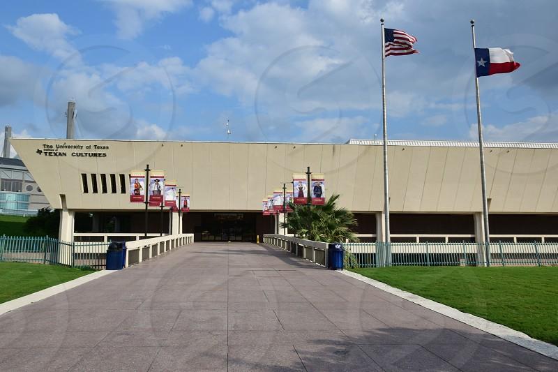Exterior view of Institute of Texan Cultures in San Antonio photo