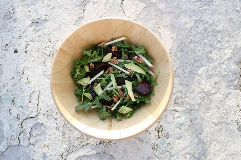 Healthy vegetarian salad photo