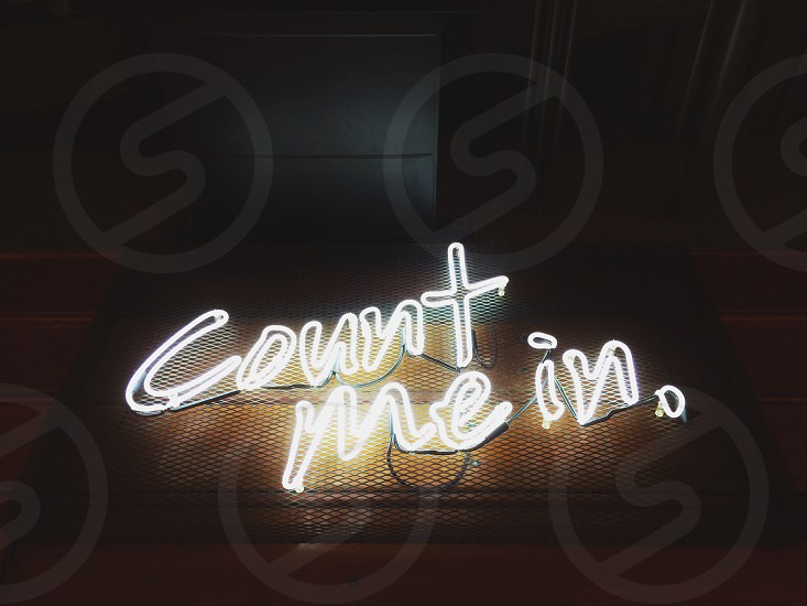 count me in neon light photo