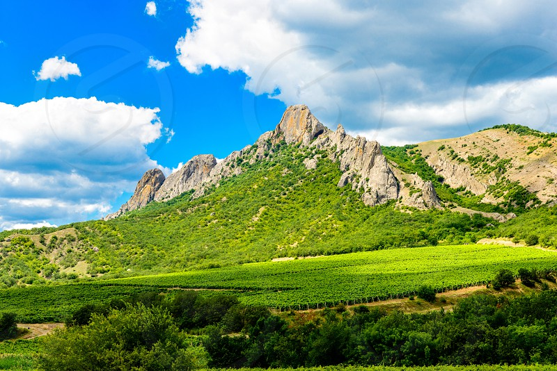 The ridge Kara Dag in summer  time. photo