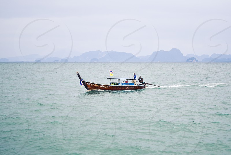 thailand travel ocean boat asia longboat  photo