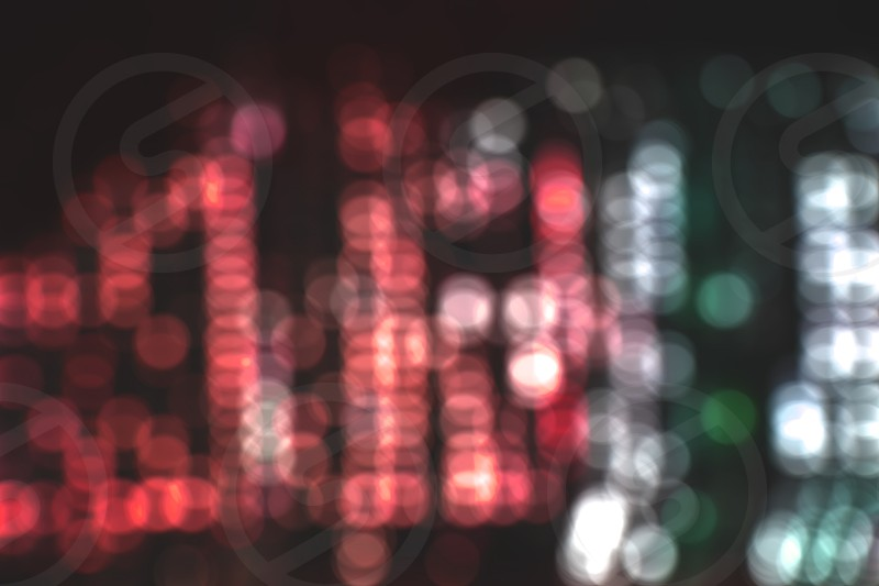 Bokeh colorful background with red white and green color photo