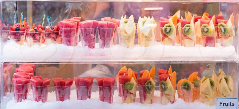 Fresh Fruits In Shop Window photo
