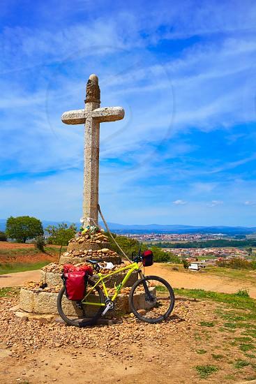 Stone cross of Santo Toribio near Astorga by the way of Saint James at Leon photo