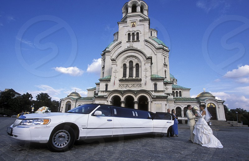 a wedding at the Nevski church in the city of Sofia in Bulgaria in east Europe. photo