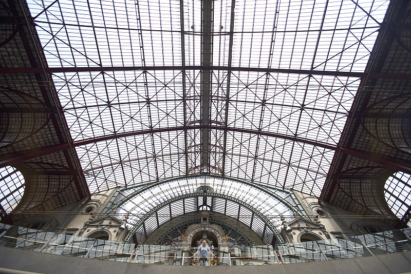 Architecture at Antwerp Central Station photo