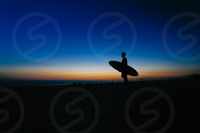 surf beach rio water sunset photo