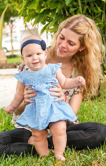 Mom and baby girl  photo
