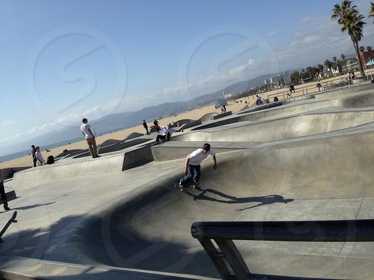 Venice beach skate park.  photo