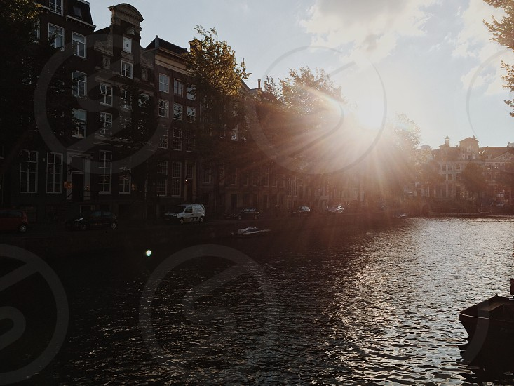 Sun over the canals. photo