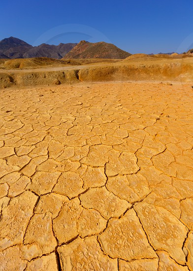 Mazarron Murcia old mine acid dry lake texture in Spain photo