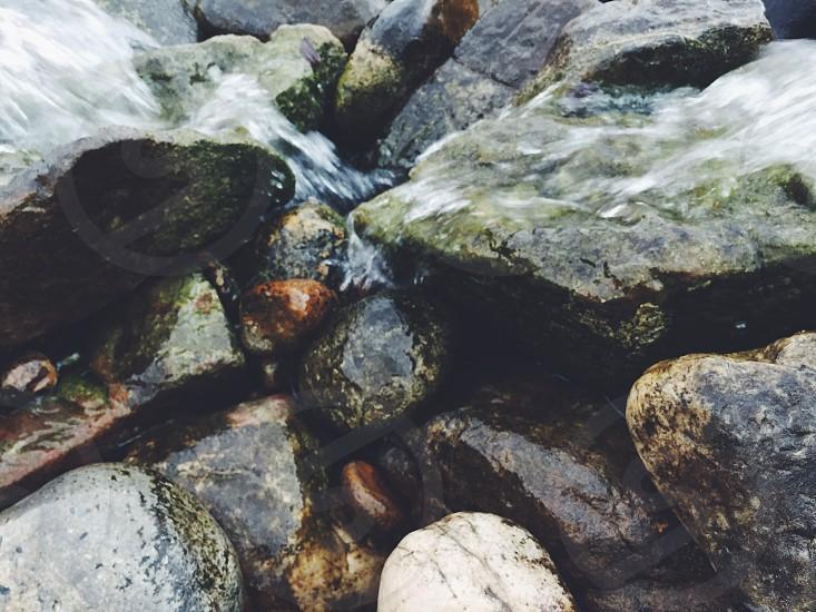 Rocks water beautiful photo