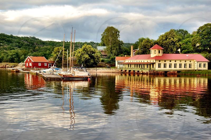 Sweden scandinavia lake photo