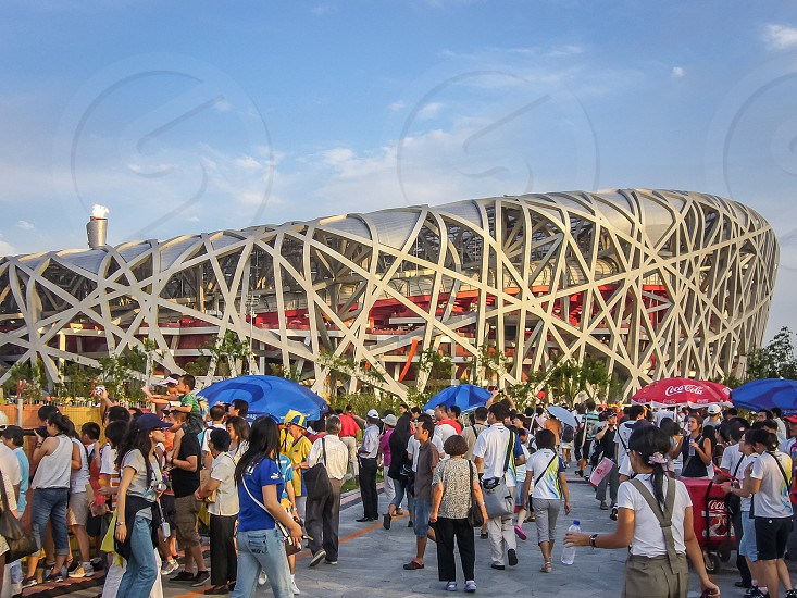 China Beijing capital national stadium birdnest olympic games sport photo