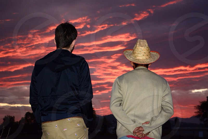 Admiring the sunset at Mangas Town Hidalgo state México photo