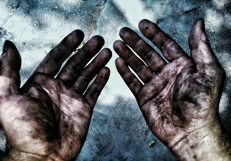 #pointofview #dirty #hardworking #hands photo