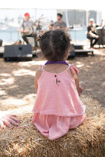 Toddler music concert music festival band photo