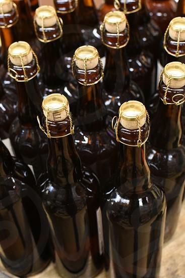 amber bottles photo