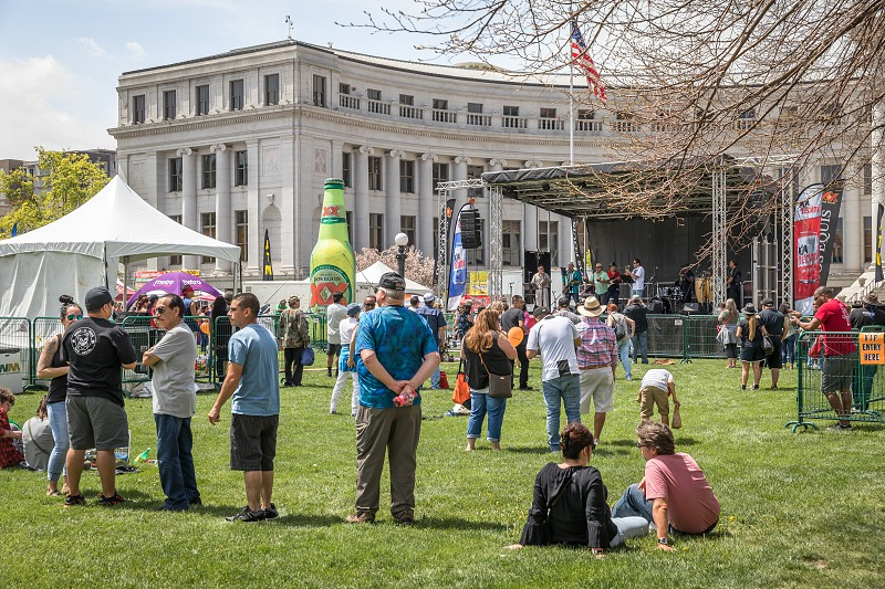 Live music in the civic center park of Denver during the Cinco de Mayo celebration photo