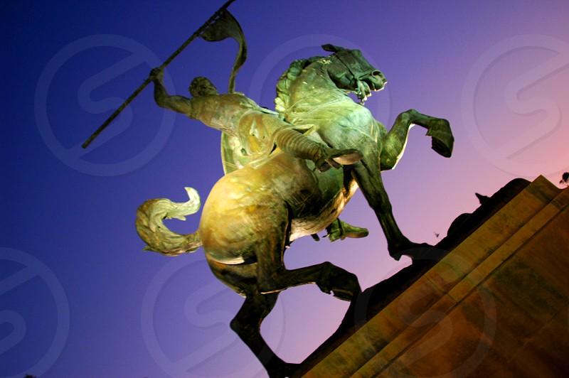 El Cid Statue in Balboa Park in San Diego California  photo