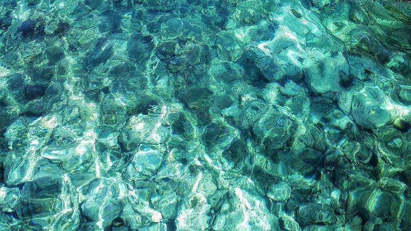 reflection of sunlight passing thru water photo