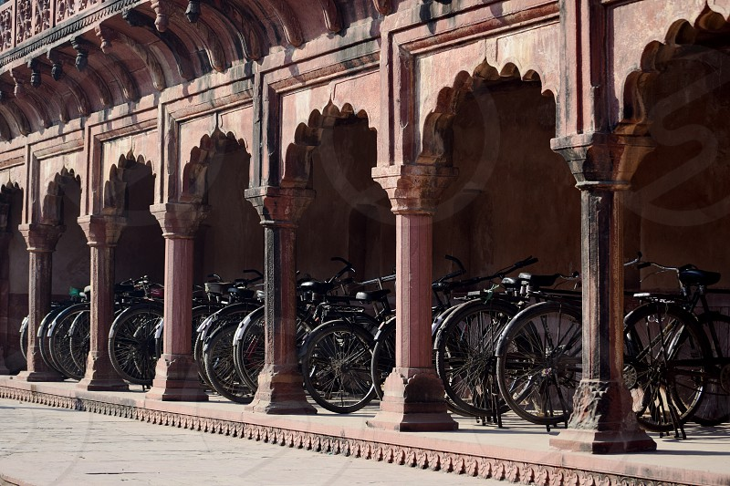 Bikes and arches photo