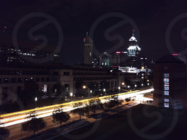 Skyline at night photo
