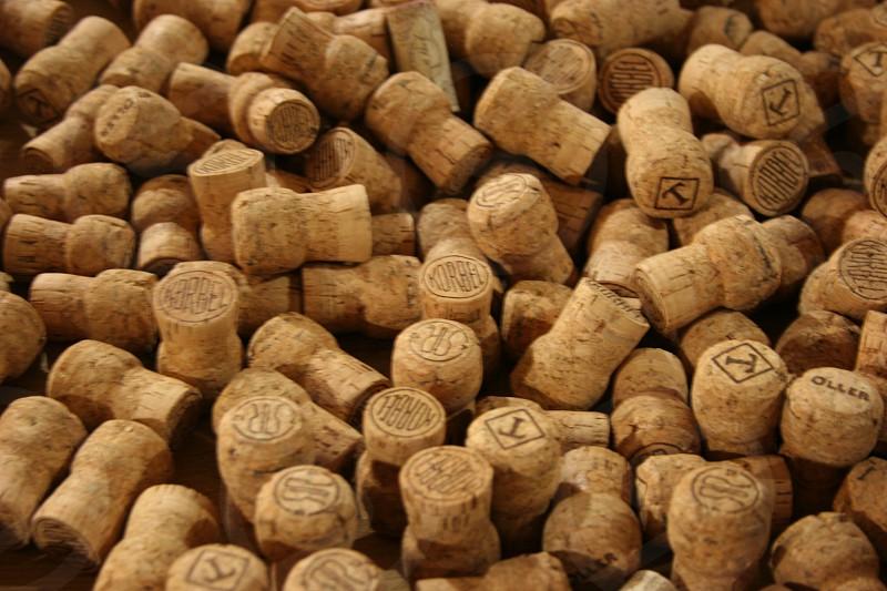 Korbel champagne corks in Napa Valley. photo