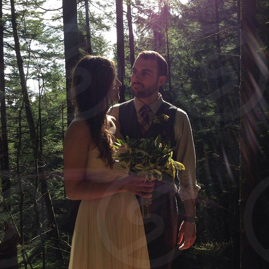 couple on forest fashion photography photo