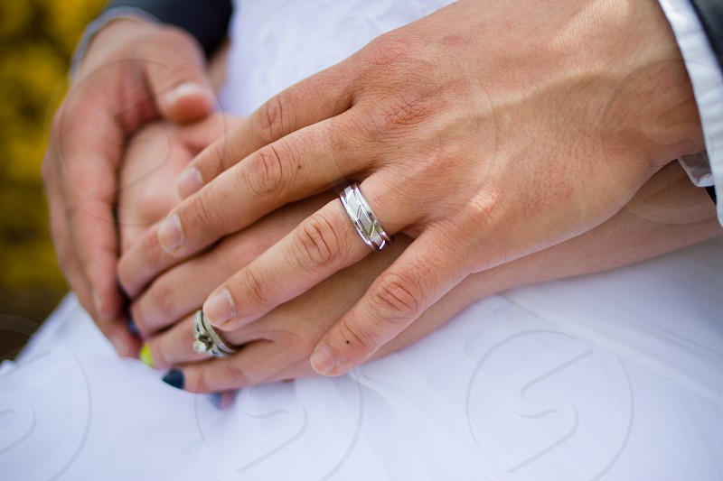 Wedding ring silver couple  photo