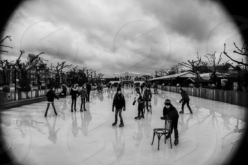 Ice Storm - captured this image at the ice rink near the Rijksmuseum Amsterdam Netherlands photo