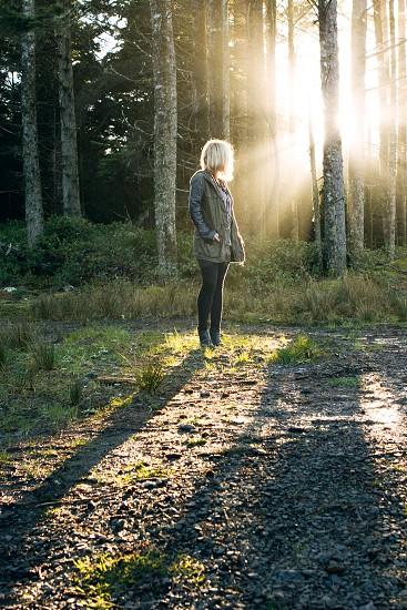 women's blue denim jeans photo