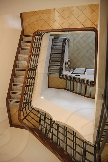 gray stairs photo