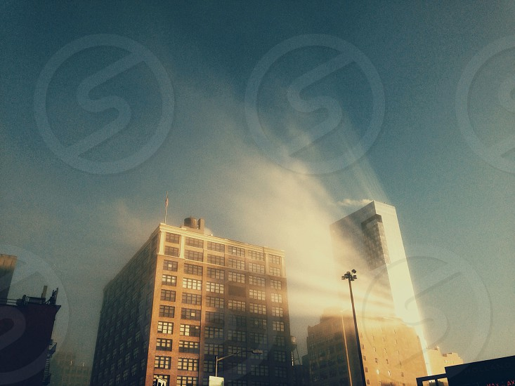grey medium rise buildings photo