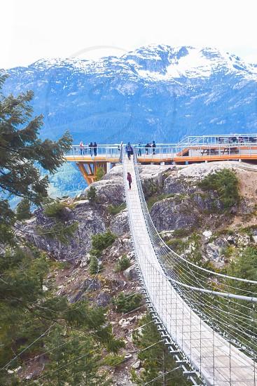 Travel Sea to Sky Summit Squamish BC Canada Suspension Bridge photo