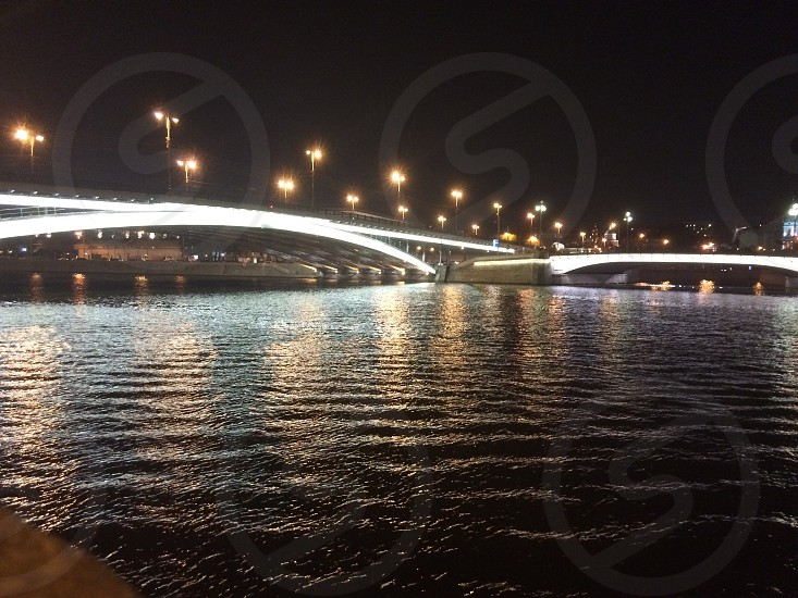 #Moscow #bridge at #night #russia photo
