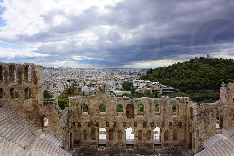 View from Acropolis Athens Greece  photo