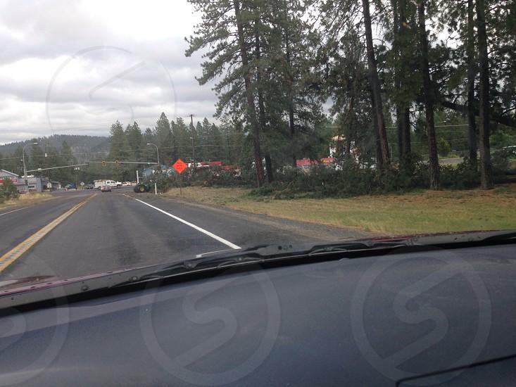 Destruction after a storm photo