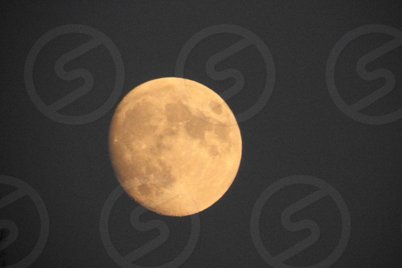 Almost a full moon over Niagara Falls          photo